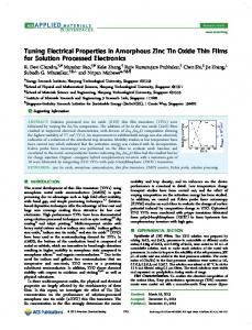 Tuning Electrical Properties in Amorphous Zinc Tin Oxide Thin Films ...