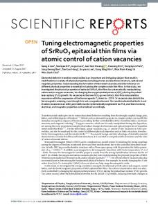 Tuning electromagnetic properties of SrRuO3 epitaxial thin films via ...