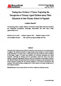 Tuning into Children's Voices: Exploring the Perceptions of ... - Core