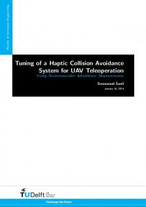 Tuning of a Haptic Collision Avoidance System for