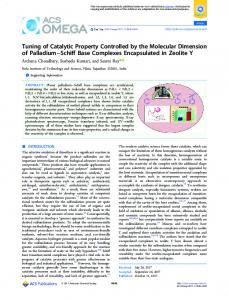 Tuning of Catalytic Property Controlled by the ... - ACS Publications