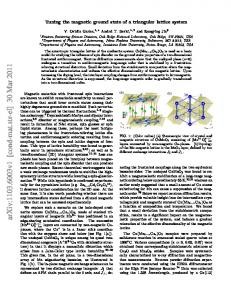 Tuning the magnetic ground state of a triangular lattice system