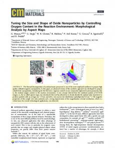 Tuning the Size and Shape of Oxide Nanoparticles by Controlling