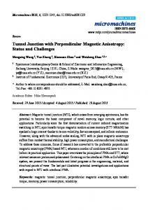 Tunnel Junction with Perpendicular Magnetic ... - Semantic Scholar