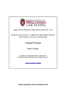 Tunnel Vision - SSRN papers
