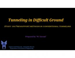 Tunneling in Difficult Ground