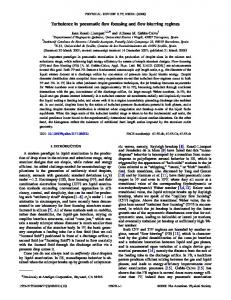 Turbulence in pneumatic flow focusing and flow ... - APS Link Manager
