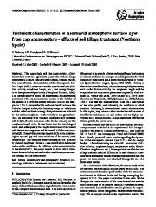 Turbulent characteristics of a semiarid atmospheric surface layer from ...