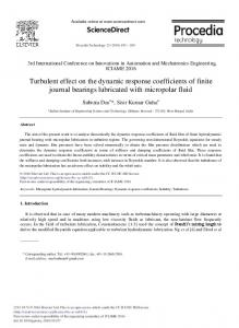 Turbulent Effect on the Dynamic Response ... - ScienceDirect