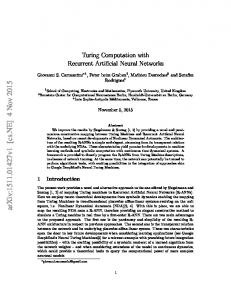 Turing Computation with Recurrent Artificial Neural Networks