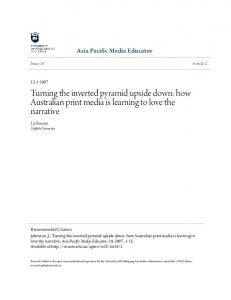 Turning the inverted pyramid upside down: how ... - Research Online