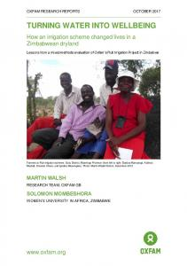 Turning Water into Wellbeing: How an irrigation scheme ... - Oxfam