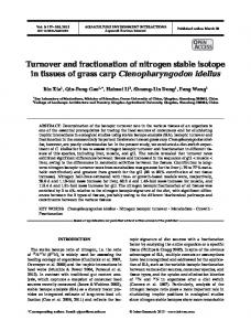 Turnover and fractionation of nitrogen stable isotope ... - Inter Research