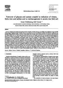 Turnover of glucose and acetate coupled to reduction of ... - Biodeep