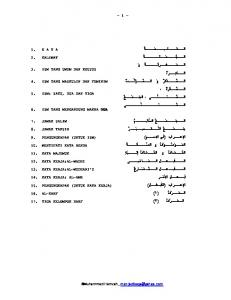 Tutorial Bahasa Arab