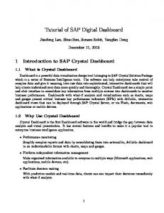 Tutorial of SAP Digital Dashboard