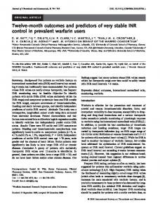 Twelve-month outcomes and predictors of very ... - Wiley Online Library