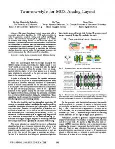 Twin-Row-Style for MOS Analog Layout - IEEE Xplore
