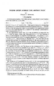 TWISTED GROUP ALGEBRAS OVER ARBITRARY ... - Project Euclid
