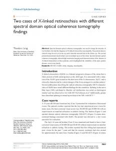 Two cases of X-linked retinoschisis with different ... - BioMedSearch