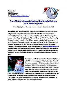 Two-CD Christmas Collection Now Available from Blue Moon Big ...