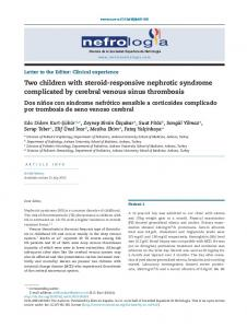 Two children with steroid-responsive nephrotic syndrome complicated ...