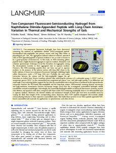 Two-Component Fluorescent-Semiconducting ... - ACS Publications