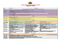Two Day Final Schedule of NC2E 2014 - University of Pune