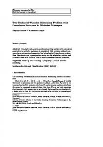 Two-Dedicated-Machine Scheduling Problem with ...