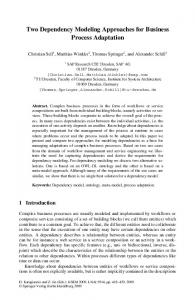 Two Dependency Modeling Approaches for Business ... - Springer Link