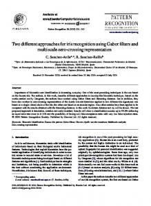Two different approaches for iris recognition using ... - Semantic Scholar