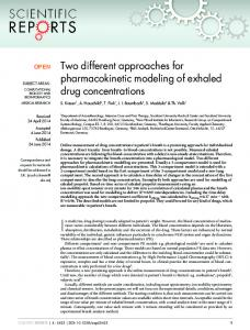 Two different approaches for pharmacokinetic ... - BioMedSearch