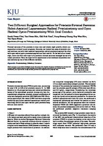 Two Different Surgical Approaches for Prostatic ... - Semantic Scholar