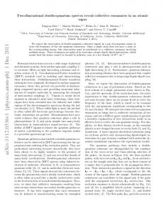 Two-dimensional double-quantum spectra reveal collective ...