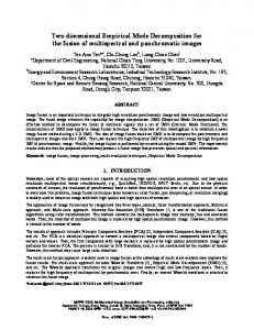 Two-dimensional Empirical Mode Decomposition for