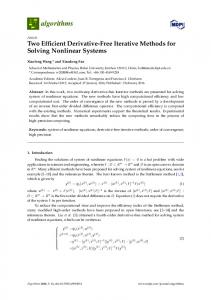 Two Efficient Derivative-Free Iterative Methods for Solving Nonlinear ...