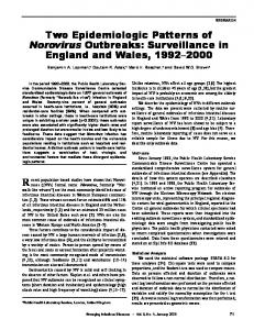 Two Epidemiologic Patterns of Norovirus Outbreaks: Surveillance in ...