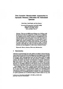 Two Iterative Metaheuristic Approaches to ... - Semantic Scholar