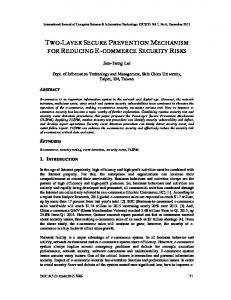 two-layer secure prevention mechanism for ... - Aircc Digital Library