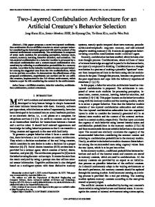 Two-Layered Confabulation Architecture for an ... - Semantic Scholar