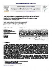 Two meta-heuristic algorithms for solving multi-objective ... - Core