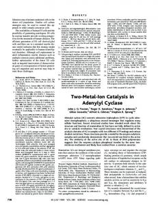 Two-Metal-Ion Catalysis in Adenylyl Cyclase - Department of Biophysics
