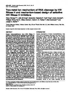 Two-metal ion mechanism of RNA cleavage by HIV ... - BioMedSearch