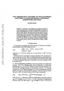 Two minimization problems on non-scattering solutions to mass