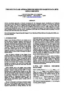 two multi-class approaches for reduced massive ... - Semantic Scholar