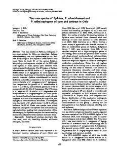 Two new species of Pythium, P. schmitthenneri and P. selbyi ...