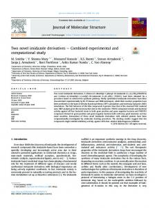 Two novel imidazole derivatives - Combined