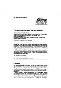 Two-person repeated games with finite automata - Center for the ...