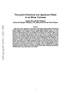 Two-point Functions and Quantum Fields in de Sitter Universe