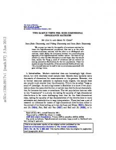 Two sample tests for high-dimensional covariance matrices - arXiv